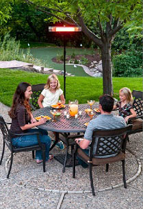 Enjoy your patio in spring and fall with a propane patio heater.
